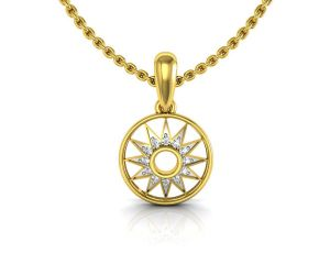 Avsar Real Gold And Cubic Zirconia Stone Sadhna Pendant( Code - Tap025ybn )