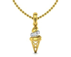 Avsar Real Gold And Cubic Zirconia Stone Namrata Pendant( Code - Tap044ybn )