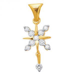Tarang Real Diamond One Stone Pendant # Tap051