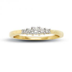 Tarang Real Diamond Five Stone Fancy Ring # Tar010