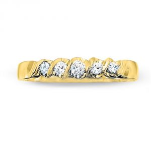 Tarang Real Diamond Five Stone In Row Ring # Tar014