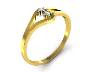 Avsar Real Gold And Swarovski Stone Neelam Ring Tar021yb