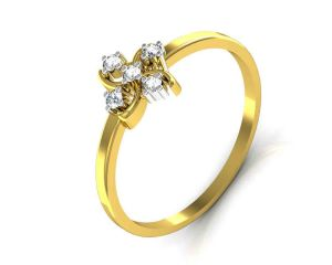 Avsar Real Gold And Swarovski Stone Pooja Ring Tar022yb