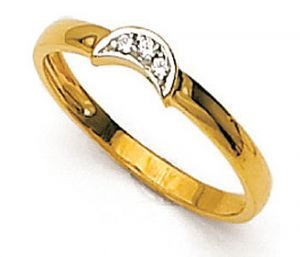 Tarang Real Diamond Three Stone Fancy Ring # Tar023