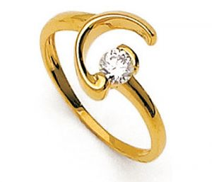 Tarang Real Diamond One Stone Fancy Ring # Tar024