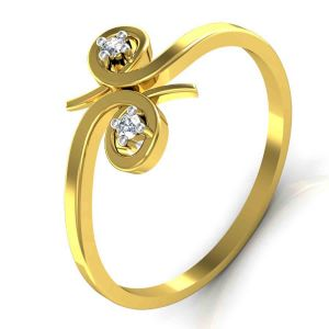 Avsar Real Gold And Diamond Payal Ring Tar032a