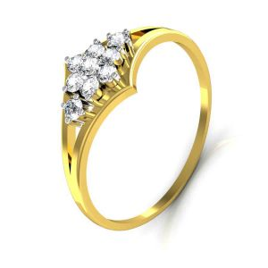 Avsar Real Gold And Diamond Rani Ring Tar035a