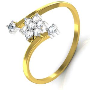 Avsar Real Gold And Diamond Patana Ring Tar036a