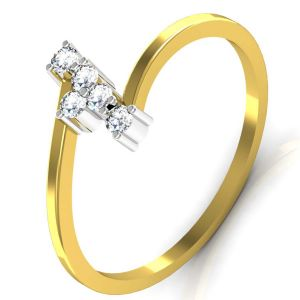 Avsar Real Gold And Diamond Rajstan Ring Tar040a