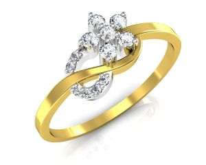 Avsar Real Gold And Diamond Jaipur Ring Tar041a