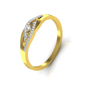 Avsar Real Gold And Swarovski Stone Pallavi Ring Tar044yb