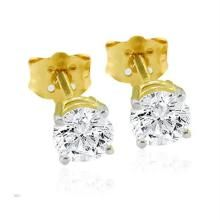 Unique Solitaire Diamond Studio 1.00ct Earring