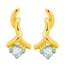 Unique Solitaire Diamond Earrings Uqe022