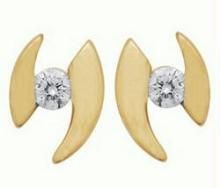 Unique Solitaire Diamond Earrings Uqe024