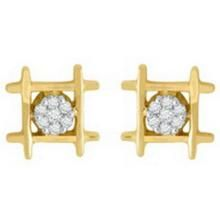 Unique Solitaire Diamond Earrings Uqe025