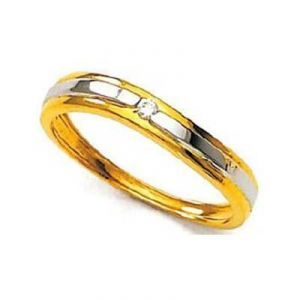 Gold Rings - CLASSIC BAND SHAPE ONE STONE DIAMOND RING UQR041