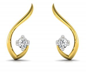 Avsar Real Gold And Diamond Karuna Earring Uqe001a
