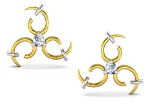 Avsar Real Gold And Swarovski Stone Nandini Earring Uqe019yb