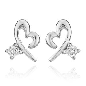 Kiara Swarovski Elements White Gold Plated Earring Vae018