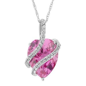 Sterling Silver Pendant Made With Swarovski Zirconia Vap009