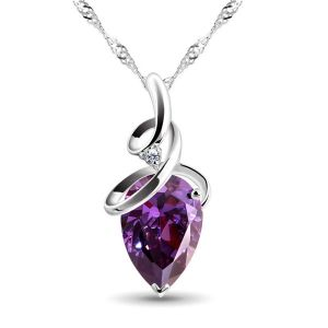 Sterling Silver Pendant Made With Swarovski Zirconia Vap038
