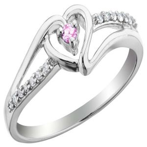 Kiara Valentine Sterling Silver Ring Made With Swarovski Zirconia Var005