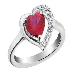 Kiara Valentine Sterling Silver Ring Made With Swarovski Zirconia Var017