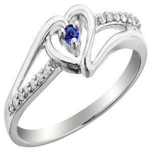 Kiara Valentine Sterling Silver Ring Made With Swarovski Zirconia Var020