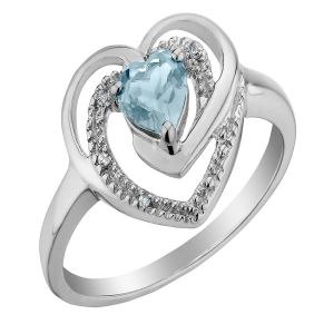 Kiara Valentine Sterling Silver Ring Made With Swarovski Zirconia Var025