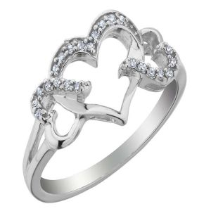 Kiara Sterling Silver Ring Made With Swarovski Zirconia Var030