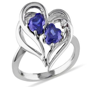 Kiara Valentine Sterling Silver Ring Made With Swarovski Zirconia Var033