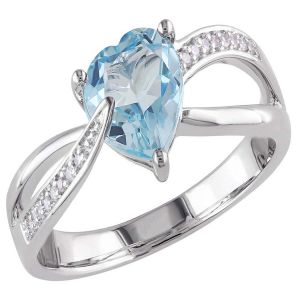 Kiara Sterling Silver Ring Made With Swarovski Zirconia Var043