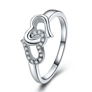 Kiara Valentine Sterling Silver Ring Made With Swarovski Zirconia Var046