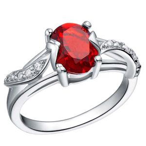 Kiara Valentine Sterling Silver Ring Made With Swarovski Zirconia Var048