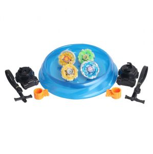 Lian Fa Beyblade Stadium With Storm Pegusas Speed Top Set (4 Various Tops)
