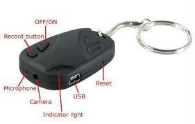 Hidden Camera Car Key Chain USB AV Mini Dvr Spy