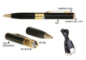 Helios Vision Spy Camera Pen With Data Cable