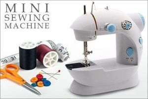 Portable Electric 4 In 1 Mini Sewing Machine With Foot Pedal