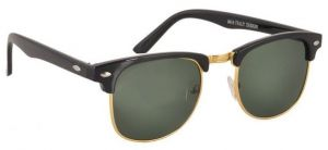 Women's Accessories - Clubmaster Sunglasses Googles Black & Golden With Uv400 Lens For Women