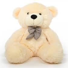 Deluxe Teddy Bear 4 Feet Butter Cream Colour