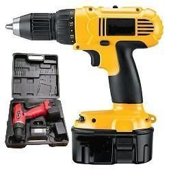 Hardware, Tools - Cordless Drill Machine 12v with Extra Battery and Drill Bits Freea