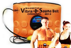 Slimmer Vibrating 3 In 1 Sauna Belt For Abdomen Waist Back And Hips