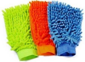 Autostark Set Of 3 Microfibre Vehicle Washing Cloth (pack Of 3) In Multicolor