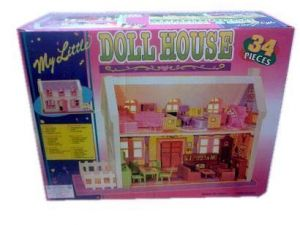 Dolls, Doll Houses - Educational Toy 34 PCs Doll House