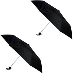 Umbrellas (Men's) - 3 Fold Heavy Quality Set Of 2 Umbrella ( code - 17823)