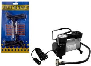 Bike utilities - 1 Tyre Puncher Kit, 1 Metal Compressor Combo