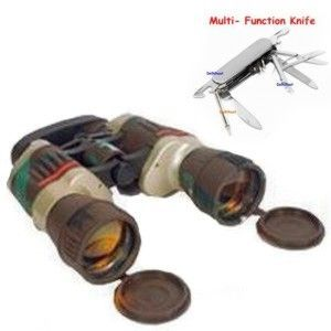 Russian Model Binocular Camping Knife Set