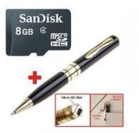 8GB Micro SD Card USB Spy Pen Camera