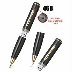 Premium Quality 4GB Spy Pen High Pixels Camera Pen Drive