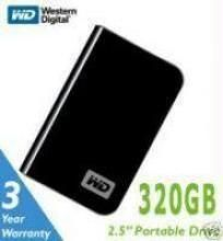 Drives, Writers & Storage - Western Digital 320GB My Passport Essential  Hdd